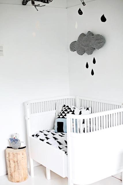 Deconi os habitaciones infantiles en blanco y negro ministry of deco - Habitaciones blancas y negras ...