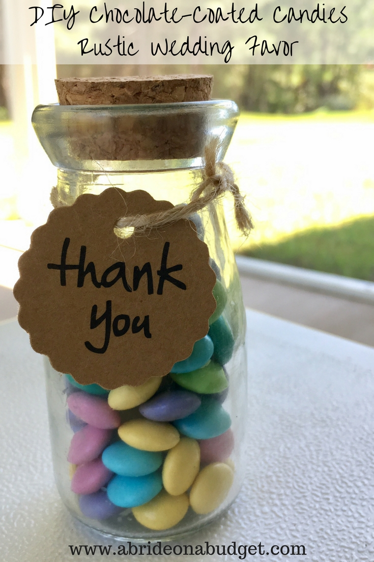 Diy Chocolate Coated Candies Rustic Wedding Favor A Bride On A Budget