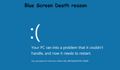 blue screen of death problem