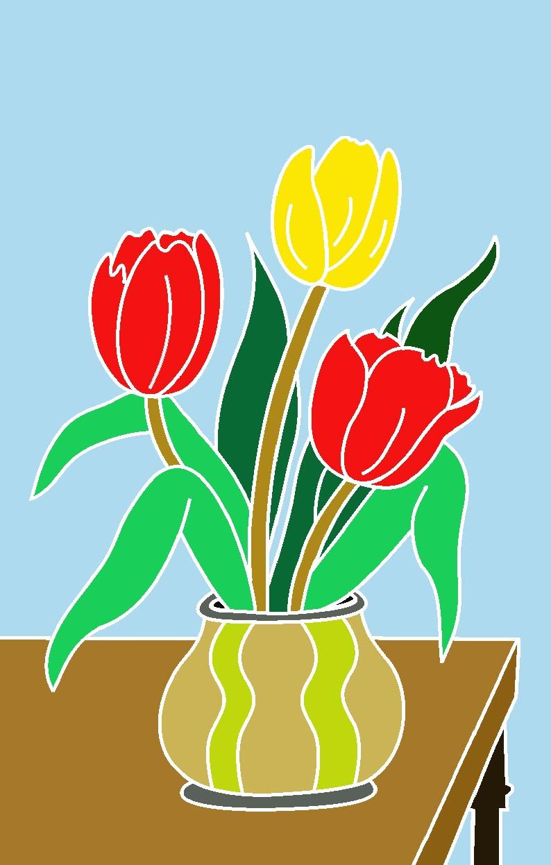 Mewarnai Bungah Tulip