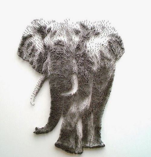 10-Elephant-David-Foster-Stippling-Art-with-Nails-www-designstack-co