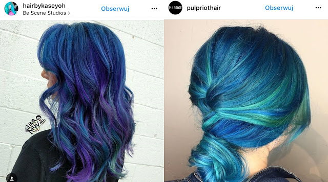 turkusowe włosy