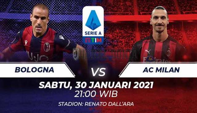Prediksi Bologna vs AC Milan , Sabtu 30 Januari 2021 Pukul 21.00 WIB @ beIN Sports