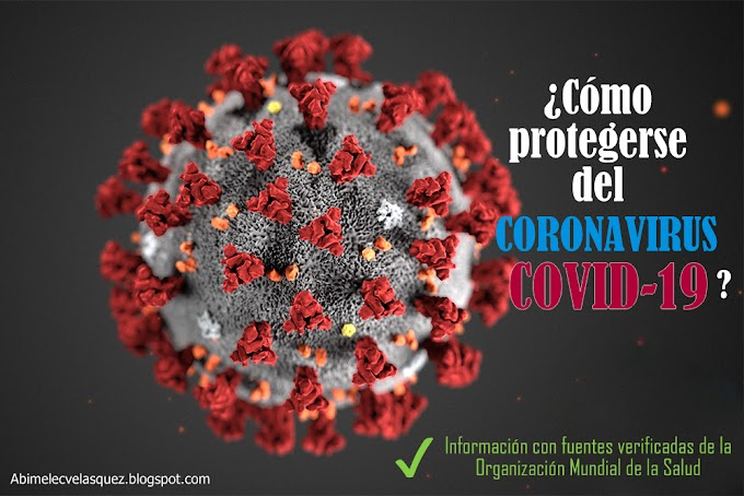 ¿CÓMO PROTEGERSE DEL CORONAVIRUS?