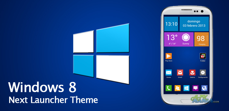 Next Launcher Theme Windows 8 v1 0 Apk Free Download | Android Apk Block