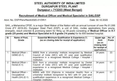 SAIL-Recruitment-2020