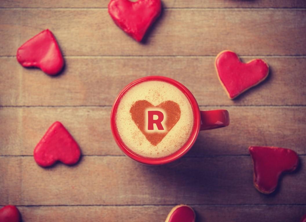 صور حرف R في قلب جميل رومانسي