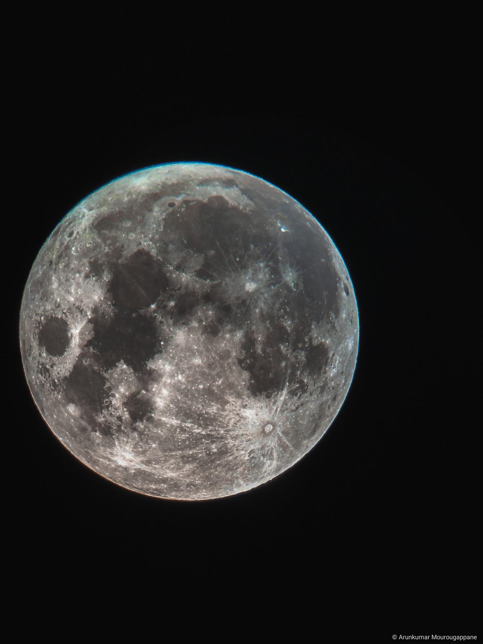 Arunkumar Lunar photography chromatic aberrations