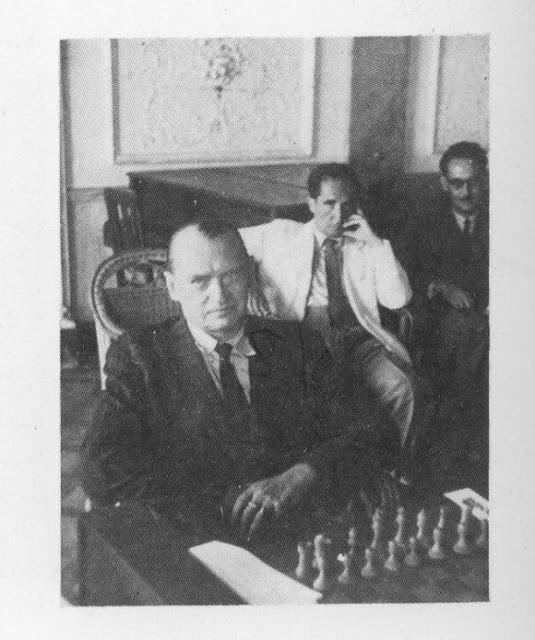 Alekhine en el Círculo Mercantil de Almería.