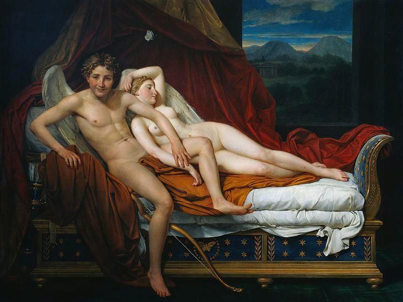 Cupido e Psiquê - David, Jacques-Louis e suas principais pinturas ~ Representante do neoclassicismo