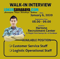 Walk In Interview di Hartono Center Surabaya Januari 2020