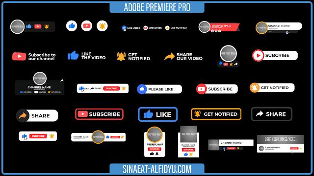 قوالب افتر افكت مجانية ,مشاريع افتر افكت مجانية للتحميل ,قالب افتر افكت احترافية مجانية ,ملفات افتر افكت مفتوحة ,أدوات اليوتيوب ,YouTube Subscribe pack Free Download ,Youtube Subscribe Elements Free ,YouTube video elements