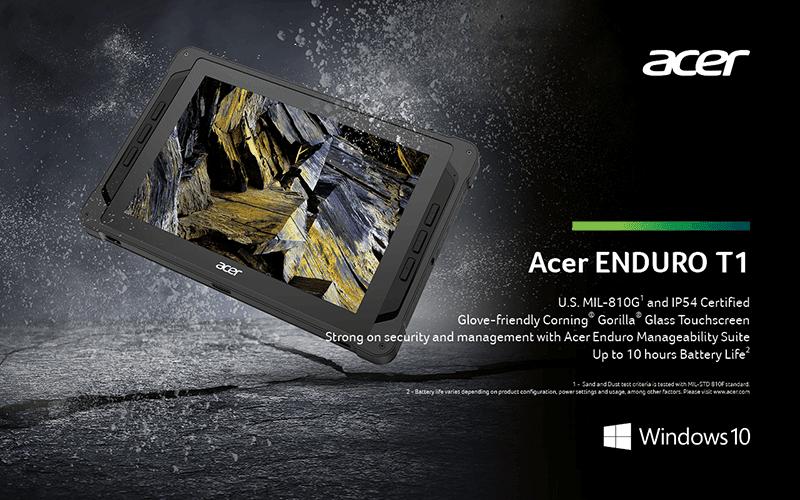 Acer Enduro T1 Windows tablet