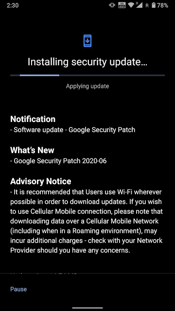 Nokia 8 Sirocco receiving June 2020 Android Security patch
