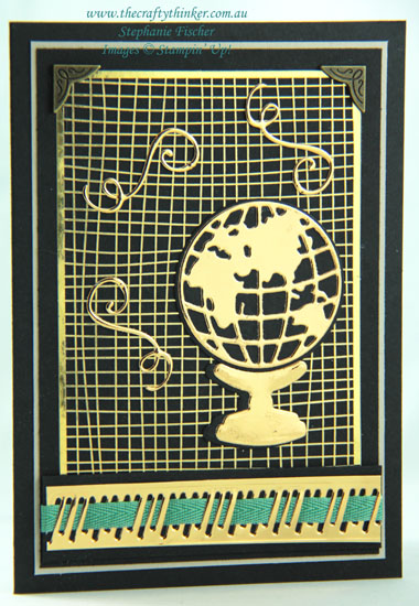 #thecraftythinker #stampinup #cardmaking #worldmap #masculinecard , Sneak Peek 2020 Annual Catalogue, World Map Dies, Forever Gold Laser Cut, Stampin' Up Demonstrator, Stephanie Fischer, Sydney NSW