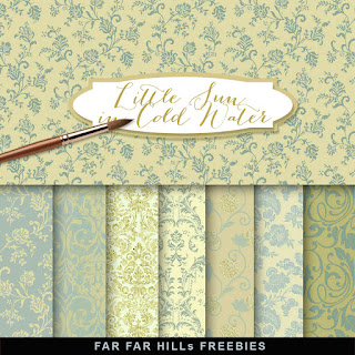 New Freebies Kit of Backgrounds - A Little Sun in Cold Water