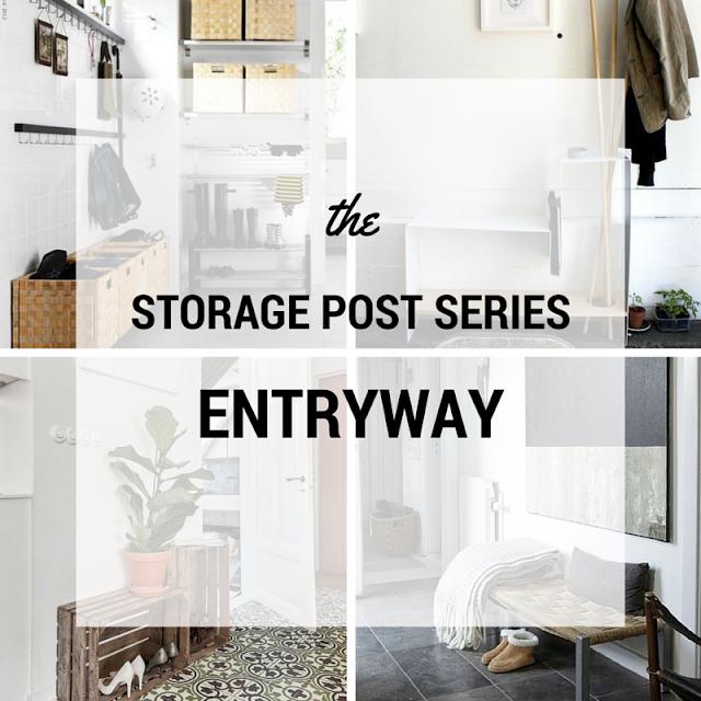storage ideas entryway • the round button blog
