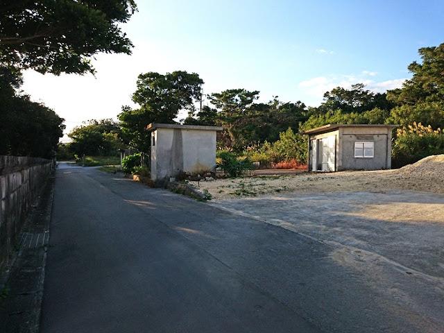 米須集落の拝所の写真