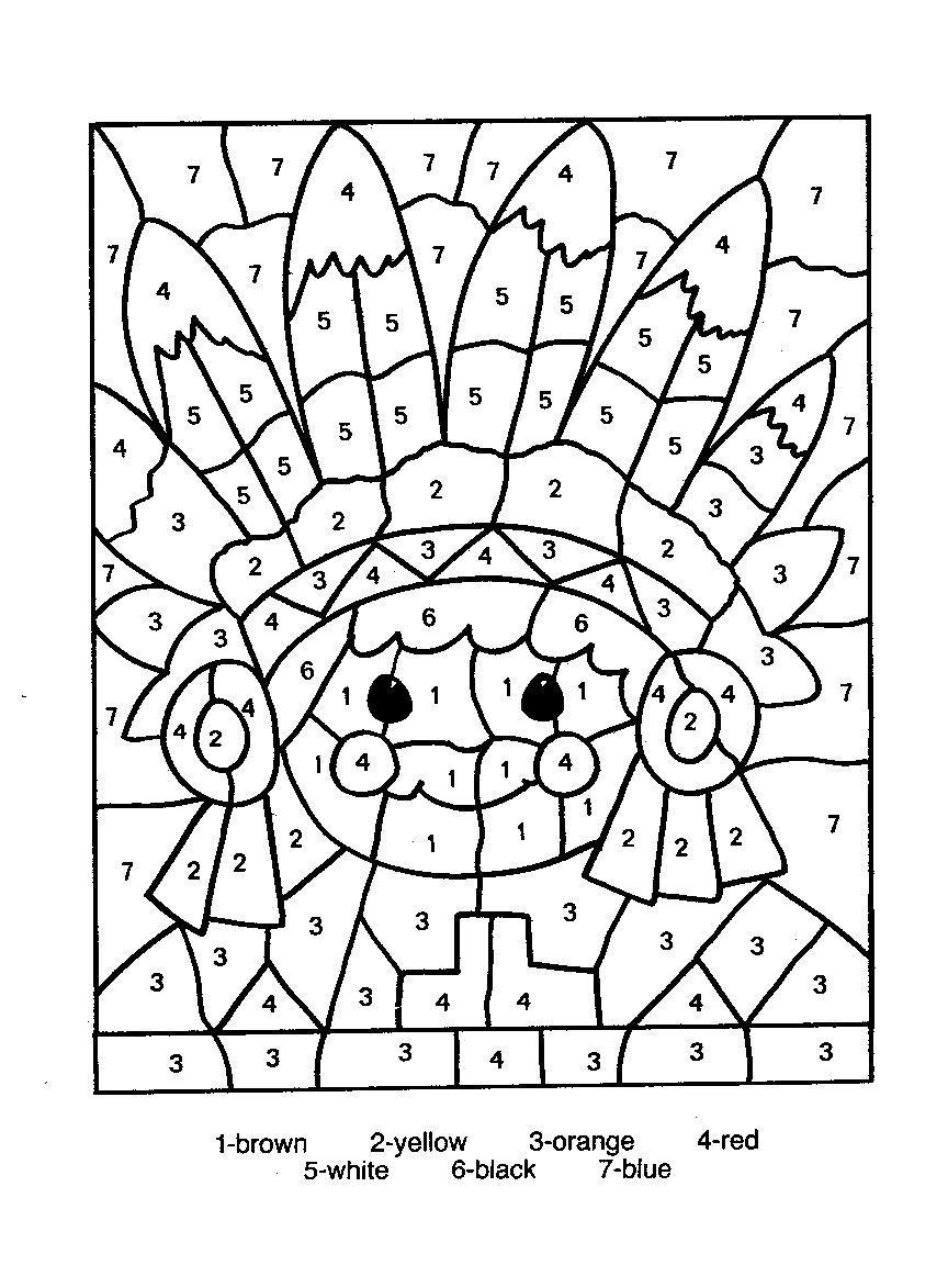 Coloriages a Imprimer : Coloriage petits avec des chiffres ...