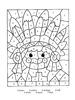 Coloriages Enfants: Coloriage petits avec des chiffres
