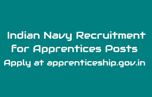 indian navy recruitment 2018 for apprentices posts, apply online@ apprenticeship.gov.in, indian navy recruitment 2018: application process for 275 apprentices posts