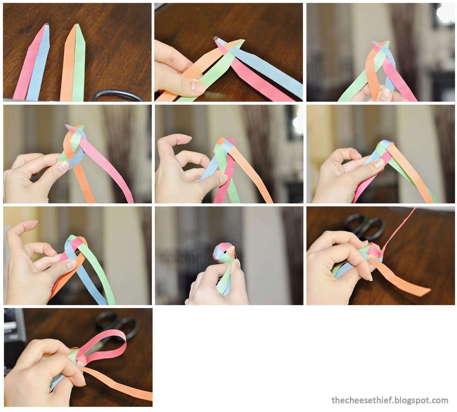 Braided Paper Balls / Beads » OrigamiTree.com | 1444x1600