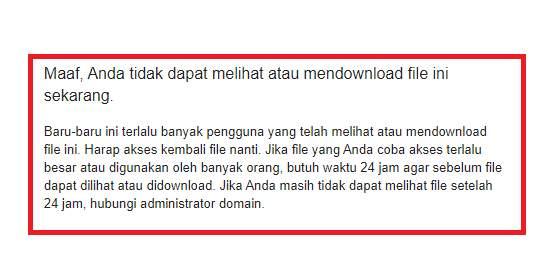 Cara Mengatasi Limit Download Google Drive Tanpa Tunggu 24 Jam