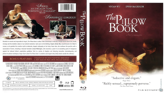 The Pillow Book Bluray Cover