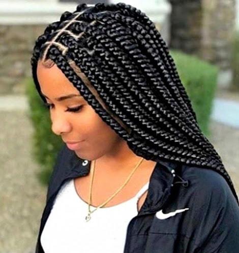 box braids hairstyles for school