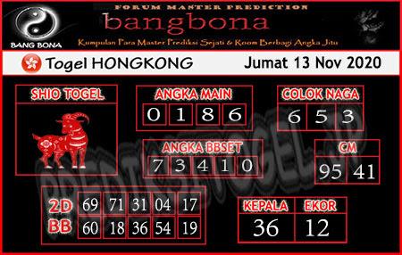 Prediksi Bangbona HK Jumat 13 November 2020