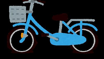 空気の入っていない自転車のタイヤのイラスト