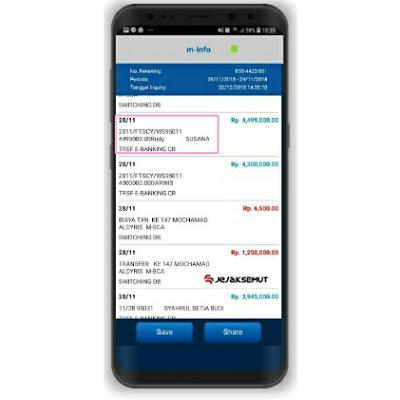 cek nama pengirim transfer lewat bca mobile