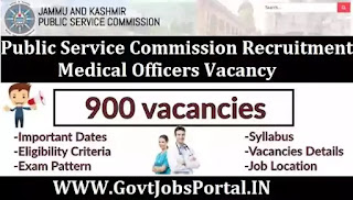 JKPSC Medical Officer Recruitment 2020