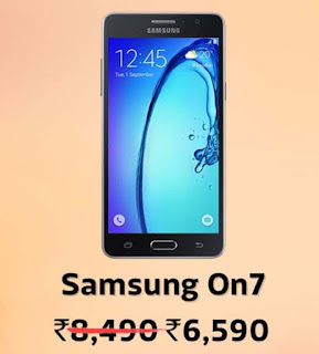 Samsung On7 @ ₹6,590/- + 10% Instant Discount with HDFC Bank Debit & Credit Cards