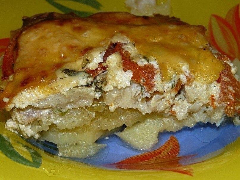 Запеканка картофельная с филе минтая