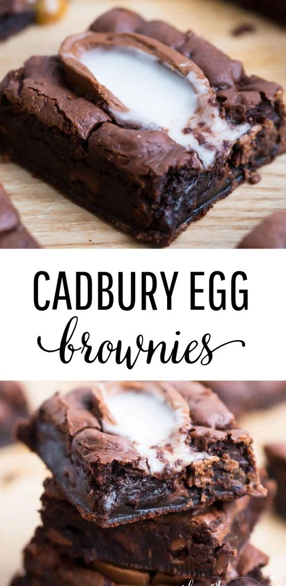 Cadbury Egg Brownie