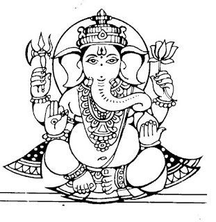 Ganpati black & white clipart collection for whatsapp