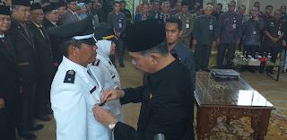 Walikota Jambi Melantik Dan Pengambilan Sumpah Pejabat Sebanyak 242 orang ASN Kota Jambi.