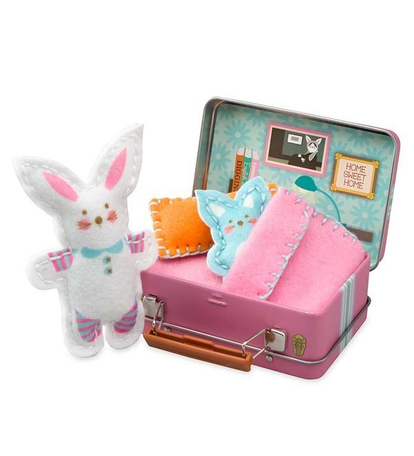 Bunny Travel Buddies Sewing Kit
