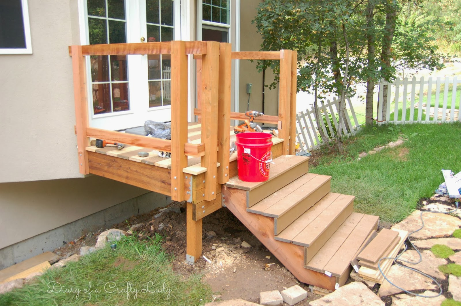 Diary of a Crafty Lady: Building a Deck {A Power Tool Project}