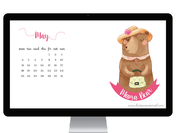 *May desktop wallpaper* - MAMA BEAR