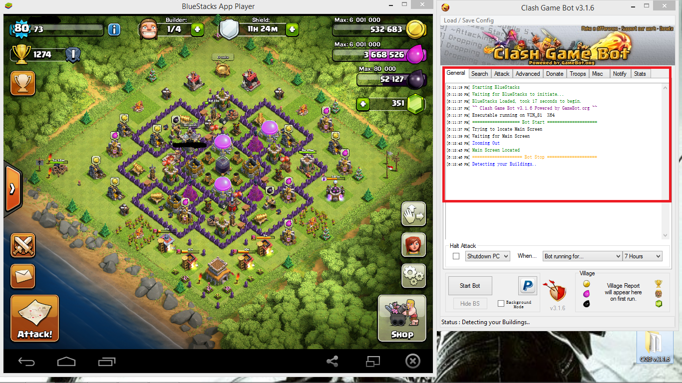 BOT CLASH OF CLANS | COC BOT