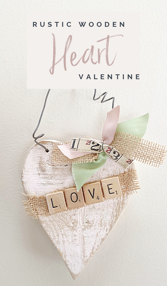 rustic heart with Pinterest overlay