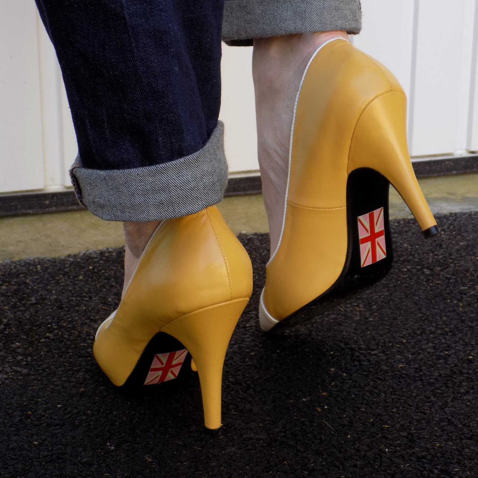 Yull Chartwell mustard yellow shoes