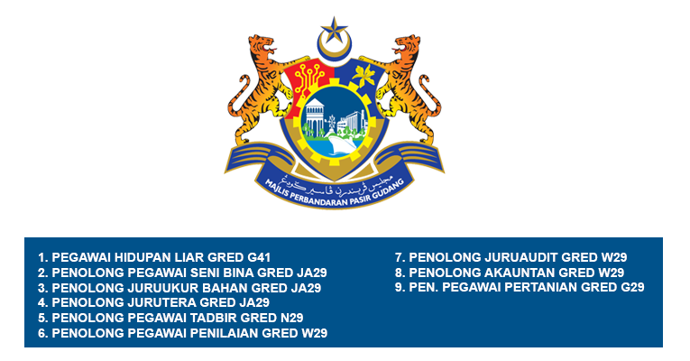 Jawatan Kosong di Majlis Perbandaran Pasir Gudang MPPG