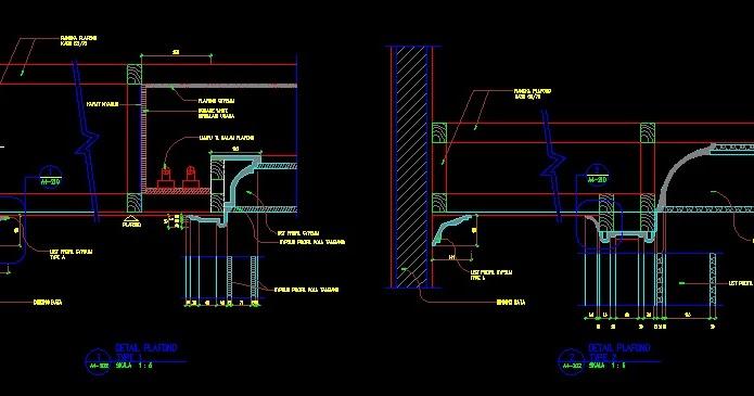 Download Gambar Kerja Detail Plafon dwg Autocad Kaula