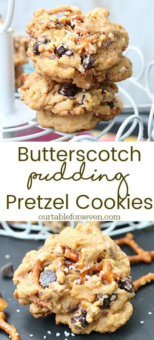 Sweet and salty goodness! Soft butterscotch cookies loaded with pretzels and chocolate chips.