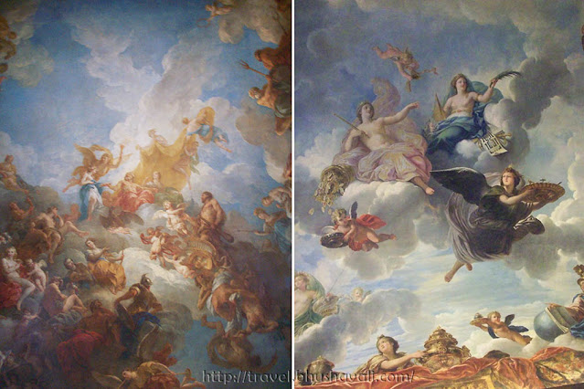 Palace of Versailles ceiling paintings in Hercules Drawing Room of King's State Apartment