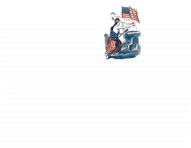 Civil War Era Letter and Envelope Templates for Reenacting | World Turn'd Upside Down