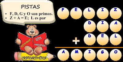 Reto Matematico, Criptoaritmética o Alfamética